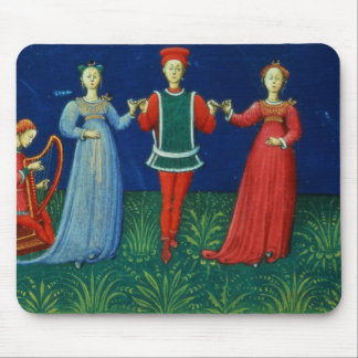 It 973 f.21v A Gentleman dancing with two Ladies, Mouse Pad