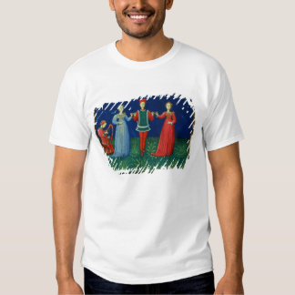 It 973 f.21v A Gentleman dancing with two Ladies, T-Shirt