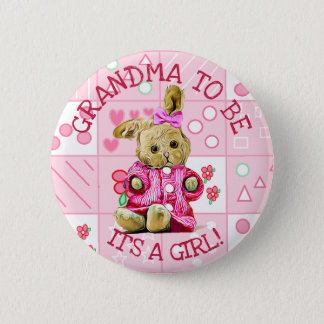 IT A GIRL, GRANDMA TO BE BABY SHOWER BUTTON BABY