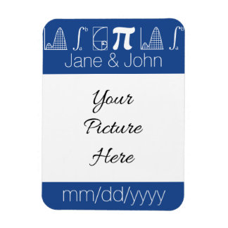 It Adds Up in Blue Save-the-Date Magnet