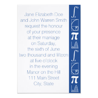 It Adds Up in Blue Wedding Invitation