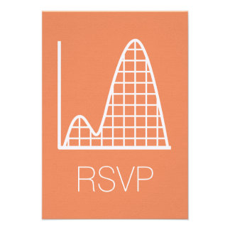 It Adds Up in Coral RSVP Card