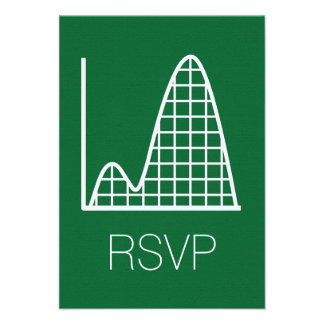 It Adds Up in Green RSVP Card