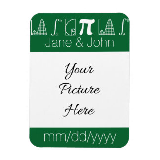 It Adds Up in Green Save-the-Date Magnet