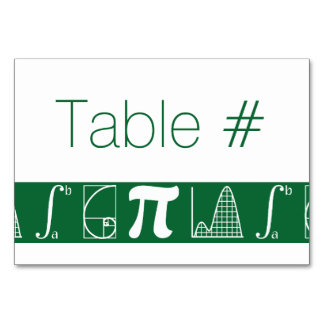 It Adds Up in Green Table Card