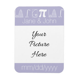 It Adds Up in Lavender Save-the-Date Magnet
