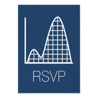 It Adds Up in Navy RSVP Card