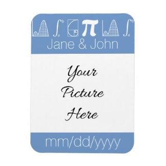 It Adds Up in Periwinkle Save-the-Date Magnet