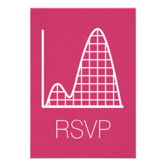 It Adds Up in Raspberry RSVP Card