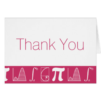 It Adds Up in Raspberry Thank You Card