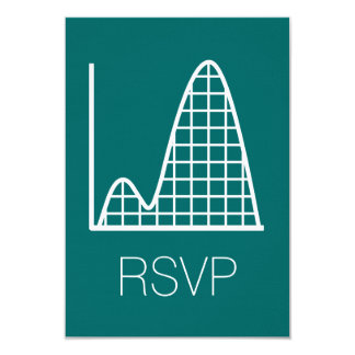 It Adds Up in Teal RSVP Card