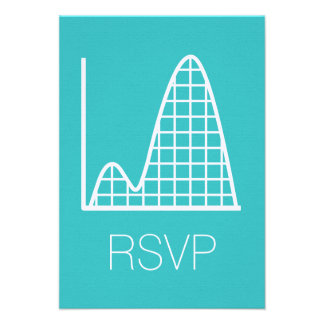 It Adds Up in Turquoise RSVP Card