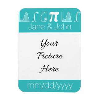 It Adds Up in Turquoise Save-the-Date Magnet