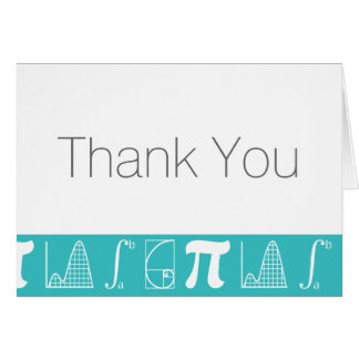 It Adds Up in Turquoise Thank You Card