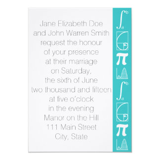 It Adds Up in Turquoise Wedding Invitation
