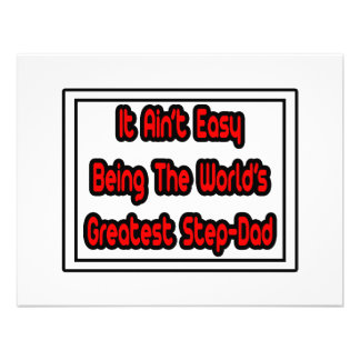 It Aint Easy World s Greatest Step-Dad Personalized Announcement