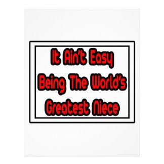 It Aint' Easy...World's Greatest Niece Letterhead Template