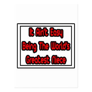 It Aint' Easy...World's Greatest Niece Postcard