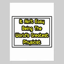 It Aint' Easy...World's Greatest Physicist Postcard