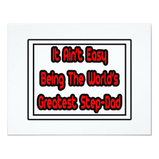 It Aint' Easy...World's Greatest Step-Dad Card