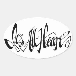 It' All Heart Sticker