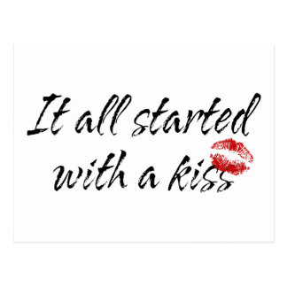 It All Started With A Kiss Maternity Postcard
