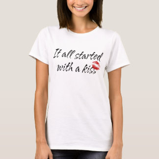 It All Started With A Kiss Maternity T-Shirt