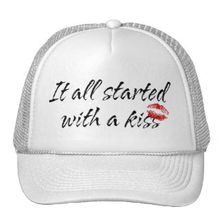 It All Started With A Kiss Maternity Trucker Hat