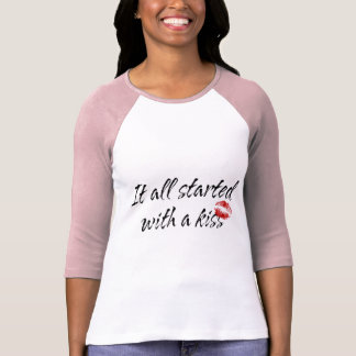 It All Started With A Kiss Maternity Tshirt