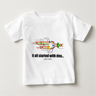 it all started with DNA.. (DNA Replication) Baby T-Shirt