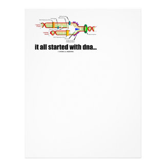 it all started with DNA.. (DNA Replication) Letterhead