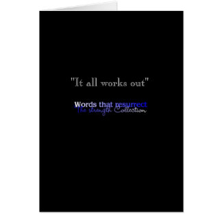 It all works out card