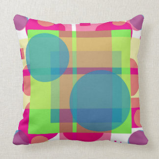 it almofada colorful with geometric drawing pillow