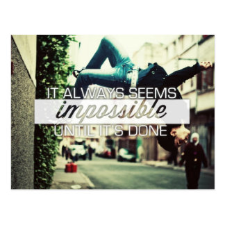 It Always Seems Impossble - Motivational Quote Postcard