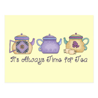 It's Always Time for Tea Postcard