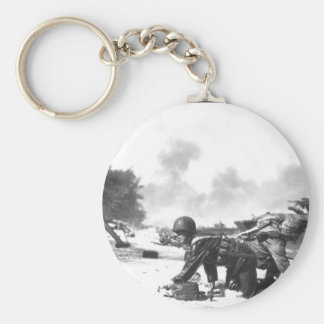 It appears that one Marine is relieving_War Image Keychain