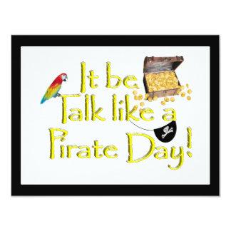 It Be Talk Like A Pirate Day! 4.25x5.5 Paper Invitation Card