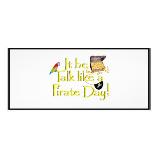 It Be Talk Like A Pirate Day! Rack Cards