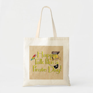 It Be Talk Like A Pirate Day! Text Design Image Tote Bags