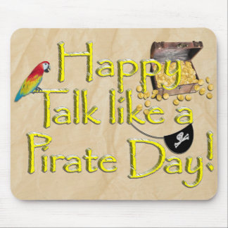 It Be Talk Like A Pirate Day! Text Design Image Mouse Pad