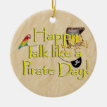 It Be Talk Like A Pirate Day! Text Design Image Ornaments