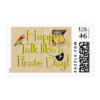 It Be Talk Like A Pirate Day! Text Design Image Postage Stamps