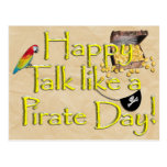 It Be Talk Like A Pirate Day! Text Design Image Postcard