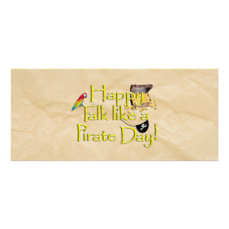 It Be Talk Like A Pirate Day! Text Design Image Full Color Rack Card