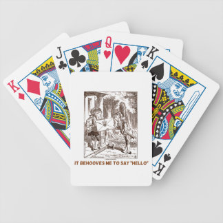 It Behooves Me To Say Hello Frogman Fishman Humor Bicycle Playing Cards