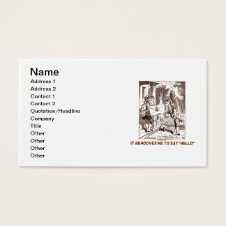 It Behooves Me To Say Hello Frogman Fishman Humor Business Card