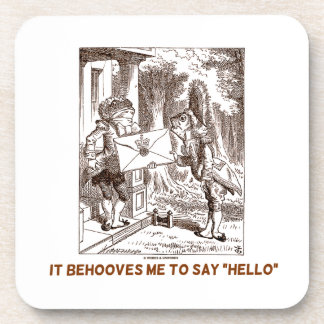 It Behooves Me To Say Hello Frogman Fishman Humor Coaster
