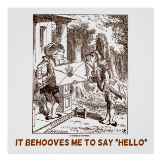 It Behooves Me To Say Hello Frogman Fishman Humor Poster