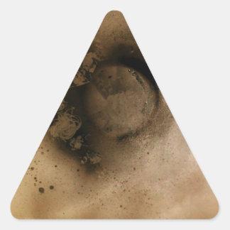 It blows up triangle sticker