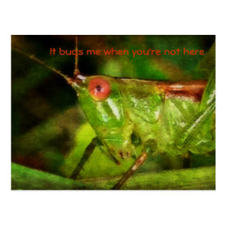 It bugs me when you're not here postcard